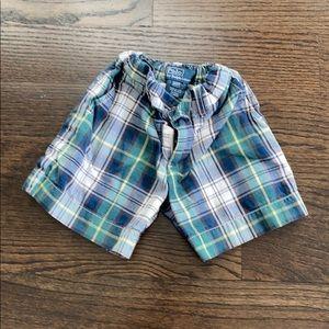 Polo boys plaid shorts